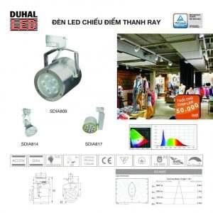 đèn rọi thanh ray SDIA806-817