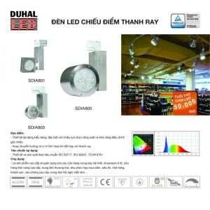 đèn led chiếu điểm thanh ray SDIA801-8053