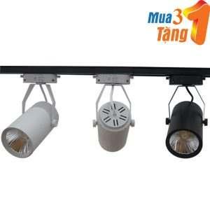 Bộ đèn led rọi ray COB 12w (Mua 3 tặng 1 thanh ray)
