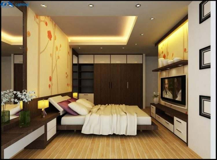 bố trí trần thạch cao cho phòng ngủ