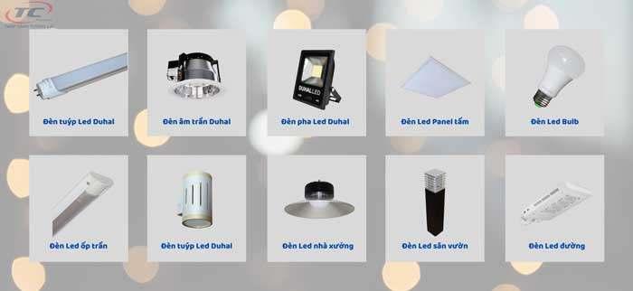 sản phẩm đèn led tiêu biểu